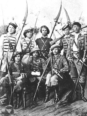 Польские косиньеры вооруженные косами